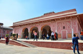 Jaipur, India - December 29, 2014: People visit The City Palace in Jaipur, India. — Stock Photo