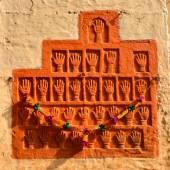 Sati Handprints in Mehrangarh Fort, Jaipur, Rajasthan — Stock Photo