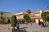 Jaipur, India - December 29, 2014: People visit The City Palace  — Stock Photo