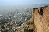 Jodhpur the blue city View from the Mehrangarh Fort. — Stock Photo
