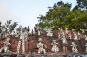Chandigarh, India - January 4, 2015: Rock statues at the rock garden in Chandigarh, India. — Stock Photo
