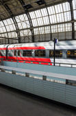 The train at the platform in Amsterdam. — Stock Photo
