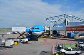 Amsterdam, Netherlands - May 16, 2015: KLM Plane at Schiphol Airport — Stock Photo