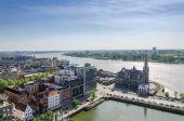 Aerial view over the city of Antwerp in Belgium — Fotografia Stock