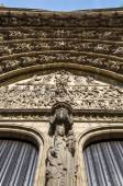 Relief of Last judgment on the main portal on the cathedral of Our lady — Stock Photo