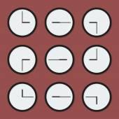 Минимальная часы — Cтоковый вектор
