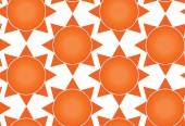 Sun seamless texture — Stock Vector