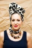 Beautiful  Woman With a headscarf — Stok fotoğraf