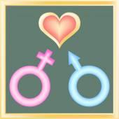 Male & feminine sign — Stock Vector