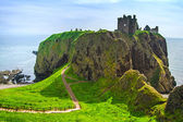 Dunnottar scottish medieval fortress or castle. Highlands of Sco — Stock Photo