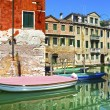 Venice cityscape, water canal, boats and traditional buildings. — Stock Photo #57767957