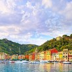 Portofino luxury village landmark, panorama view. Liguria, Italy — Stock Photo #60395247