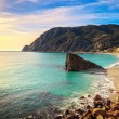 Monterosso beach and sea bay. Five lands, 5 terre, Ligury Italy — Stock Photo #65825049