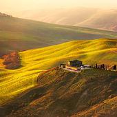 Toskana, Volterra Le Balze kırsal manzara. İtalya — Stok fotoğraf