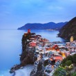 Vernazza village, aerial view on sunset. Cinque Terre, Ligury, I — Stock Photo #68531057