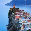 Vernazza village, aerial view on sunset. Cinque Terre, Ligury, I — Stock Photo #68733237