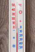 Old thermometer — 图库照片