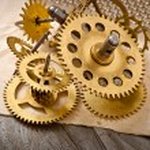 Old mechanical clock gear — Stock Photo #62201269