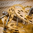 Old mechanical clock gear — Stock Photo #62201313