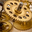 Old mechanical clock gear — Stock Photo #62201319