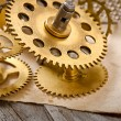 Old mechanical clock gear — Stock Photo #62201321