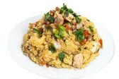 Couscous grain dish with swordfish  — Photo