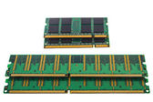 Microchip de Green Ram Ddr para pc y notebook — Foto de Stock