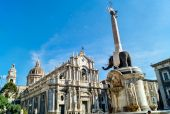 Liotru and Cathedral in Catania, Sicily — Stockfoto