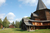 Museum of wooden architecture church Russia — Stock Photo