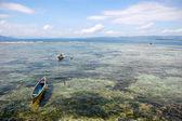 Fishing boats at ocean bay near coast Indonesia — Stock Photo