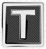 Polka Dot Font LETTER T — 图库矢量图片