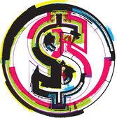 Symbol ilustracja kolorowy — Wektor stockowy