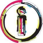 Colorful Grunge Font LETTER i — Stock Vector #63110971