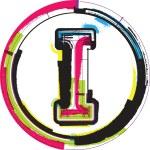 Colorful Grunge Font LETTER I — Stock Vector #63111693