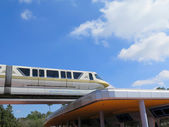 High-speed monorail bahn closeup — Stockfoto