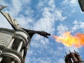 Dragon at Diagon Alley near the Harry Potter ride at Universal S — Stock Photo