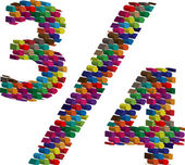 丰富多彩的三维符号 — 图库矢量图片