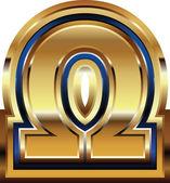 Golden Font Symbol — Vetor de Stock