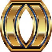 Symbol czcionki złoty — Wektor stockowy