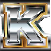 Fancy font Letter K — Stock Vector