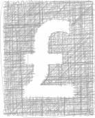 знак фунта - руки символ — Cтоковый вектор
