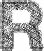 Font Illustration Letter R — Stock Vector