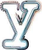Font Illustration letter y — Stock Vector