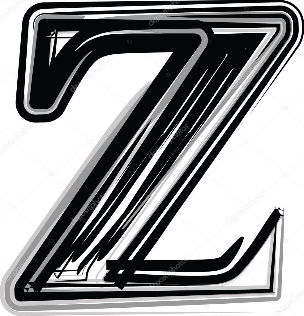 手绘字体字母 z — 图库矢量图像08