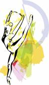 Ballet Dancer illustration — Stock Vector