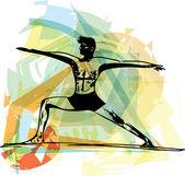 Człowiek ilustracja joga — Wektor stockowy