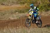 ロシア選手権モトクロス オートバイおよび atvs の間での — ストック写真