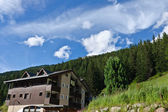 Hotels in Alps — Stock Photo