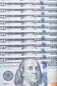 100 USD close-up — Stock Photo