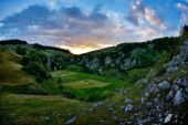 Beautiful summer landscape in the mountains, Romania — Стоковое фото